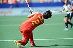 The Hague, Netherlands, June 01: Mengyu Wang #2 of China flicks the ball up during the field hockey group match (Women - Group B) between Germany and China on June 1, 2014 during the World Cup 2014 at GreenFields Stadium in The Hague, Netherlands. Final score 1:1 (0:0) (Photo by Dirk Markgraf / www.265-images.com) *** Local caption ***