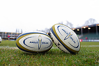 A general view of Anglo-Welsh Cup branded balls. Anglo-Welsh Cup match, between Bath Rugby and Newcastle Falcons on January 27, 2018 at the Recreation Ground in Bath, England. Photo by: Patrick Khachfe / Onside Images