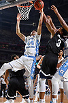 GLENDALE, AZ - APRIL 03:  Justin Jackson #44 of the North Carolina Tar Heels reaches for the rebound during the 2017 NCAA Men's Final Four National Championship game against the Gonzaga Bulldogs at University of Phoenix Stadium on April 3, 2017 in Glendale, Arizona.  (Photo by Brett Wilhelm/NCAA Photos via Getty Images)