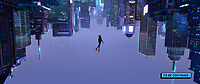 Spider-Man: Into the Spider-Verse (2018)   <br /> Miles Morales (Shameik Moore) falls through an alternate-universe New York City <br /> *Filmstill - Editorial Use Only*<br /> CAP/MFS<br /> Image supplied by Capital Pictures