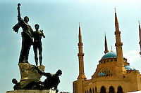 BEIRUT / LIBANO - 2007.PIAZZA DEI MARTIRI..FOTO LIVIO SENIGALLIESI..BEIRUT / LEBANON.MARTYRS' SQUARE.PHOTO LIVIO SENIGALLIESI