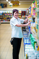 Thursday  21 July 2016<br /> Pictured: Store Deputy Manager, Lisa James Re: ALDI Haverfordwest Grand Re-opening