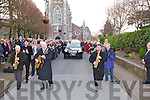 FUNERAL: The funeral of the Late Billy Curtin from St John's Chrch Tralee oN Saturday morning with his family carrying his coffin from the church to the hearse...