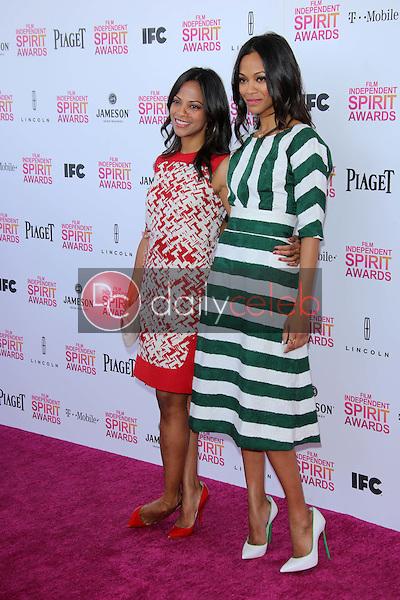 Zoe Saldana<br /> at the 2013 Film Independent Spirit Awards, Private Location, Santa Monica, CA 02-23-13<br /> David Edwards/DailyCeleb.com 818-249-4998