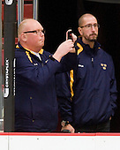 Per-Åke Bäckman (Sweden - Equipment Manager) - Sweden's Under-20 team defeated the Harvard University Crimson 2-1 on Monday, November 1, 2010, at Bright Hockey Center in Cambridge, Massachusetts.