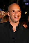 "UNIVERSAL CITY, CA. - March 12: Vin Diesel arrives at the Los Angeles premiere of ""Fast & Furious"" at the Gibson Amphitheatre on March 12, 2009 in Universal City, California."
