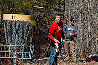 The Liberty University Disc Golf team hosts the Liberty Flamethrower Collegiate Classic on March 8, 2014. (Photo by Joel Coleman)