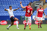Bolton Wanderers' Josh Magennis competing with Bristol City's Adam Webster<br /> <br /> Photographer Andrew Kearns/CameraSport<br /> <br /> The EFL Sky Bet Championship - Bolton Wanderers v Bristol City - Saturday August 11th 2018 - University of Bolton Stadium - Bolton<br /> <br /> World Copyright &copy; 2018 CameraSport. All rights reserved. 43 Linden Ave. Countesthorpe. Leicester. England. LE8 5PG - Tel: +44 (0) 116 277 4147 - admin@camerasport.com - www.camerasport.com