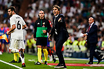 Julen Lopetegui Head Coach of Real Madrid reacts gestures their La Liga  2018-19 match between Real Madrid CF and Atletico de Madrid at Santiago Bernabeu on September 29 2018 in Madrid, Spain. Photo by Diego Souto / Power Sport Images