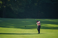 Pat Perez (USA) hits his approach shot on 11 during 1st round of the 100th PGA Championship at Bellerive Country Cllub, St. Louis, Missouri. 8/9/2018.<br /> Picture: Golffile | Ken Murray<br /> <br /> All photo usage must carry mandatory copyright credit (© Golffile | Ken Murray)