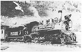 RGS 2-8-0 #74 with caboose.<br /> RGS