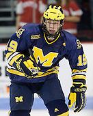 Matt Rust (Michigan - 19) - The Boston University Terriers defeated the University of Michigan Wolverines 3-2 on Saturday, October 24, 2009, at Agganis Arena in Boston, Massachusetts.