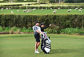 28th September 2017, Windross Farm, Auckland, New Zealand; LPGA McKayson NZ Womens Open, first round;  New Zealand caddie Steve Williams with USA's Danielle Kang