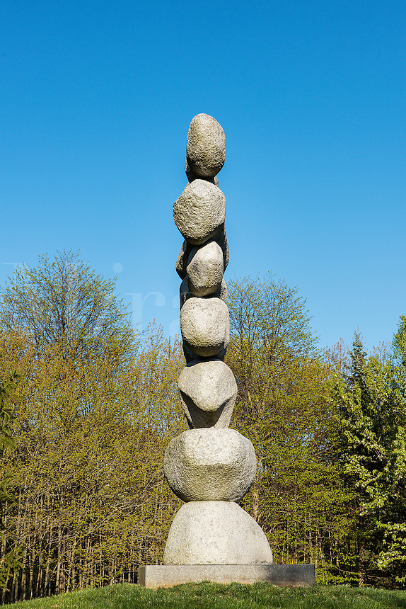 Modern stone sculpture, Grounds for Sculpture, Hamilton, New Jersey, USA