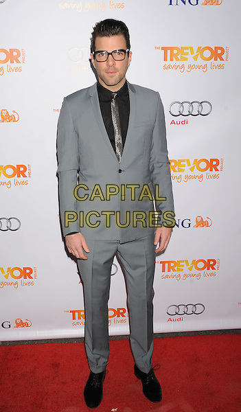 Zachary Quinto.Trevor Live at The Hollywood Palladium in Hollywood, California, USA..December 4th, 2011.full length suit glasses black grey gray.CAP/ROT/TM.©Tony Michaels/Roth Stock/Capital Pictures