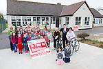 "Brendan Griffin TD Launching the ""Le Tour De Ballyfinane"" on the 18th of April in aid of Ballyfinane NS.In the picture are Seamus Mcintee,Brendan Griffin, Aida Mcintee, Maureen Roper (Principal),John Edward's, Helena Lyne and Ciara Keenan  with the Students of Ballyfinane National School"