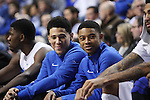 UK guards Devin Booker and Tyler Ulis sat out during the game against Columbia at Rupp Arena in Lexington, Ky., on Friday, December 5,  2014. Photo by Emily Wuetcher | Staff