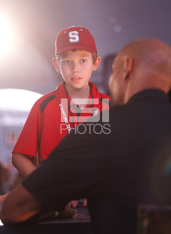 STANFORD, CA -- September 15, 2012: James Lofton signs autographs for fans in the Sports Illustrated Heisman Tent before the Stanford vs <br /> USC football game Saturday night at Stanford Stadium.<br /> <br /> Stanford won 21-14.