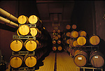 Barrels in the winery cellar, Anderson Valley California