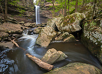 Petit Jean State Park, Arkansas:<br /> Rocky canyon of Cedar Creek falls