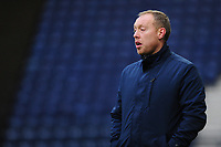 Steve Cooper Head Coach of Swansea City shouts instructions to his team from the dug-out during the Sky Bet Championship match between Preston North End and Swansea City at the Deepdale Stadium in Preston, England, UK. Saturday 01 February 2020