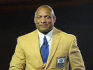 Canton, Ohio - August 1, 2014: Aeneas Williams accepts his gold jacket during the Pro Football Hall of Fame's class of 2014 enshrinement dinner in Canton, Ohio  August 1, 2014. During his career, Williams had nine interceptions returned for a touchdown and was named to eight Pro Bowl teams.  (Photo by Don Baxter/Media Images International)
