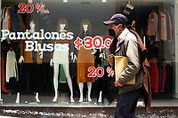 TUNJA-COLOMBIA, 16-04-2020: Imagen en la ciudad de Tunja, durante la cuarentena total en el territorio colombiano causada por la pandemia  del Coronavirus, COVID-19. / Image in the city of Tunja, during the total quarantine in the Colombian territory caused by the Coronavirus pandemic, COVID-19. / Photo: VizzorImage /Darlin Bejarano / Cont.