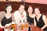 Karen Smith, Caroline Sweeney, Catherine Smith and Dawn Kavanagh at the Quiz in Foleys in aid of The Cancer Society and Crumlins Children Hospital...Picture Jenny Matthews/Newsfile.ie