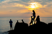 Tourists watch as the sun sets near the concrete ship S. S. Atlantus, which ran aground in 1926, Thursday July 7, 2016 at Sunset Beach in Cape May, New Jersey. (Photo by William Thomas Cain/Cain Images) #color #color_masters #_worldwide #america #atlantus #photooftheday #photojournalism #photojournalist #emotion_daily #instagram #sunset #myphotooffice #celebrate #nikon #nikonusa #D700 #classic @cainimages<br /> @capemaymac @nikonusa<br /> @portraitpage<br /> @discoverportrait<br /> @featurepalette<br /> @artofvisuals<br /> @thevisualscollective<br /> @peoplescreatives<br /> @weeklyfeature<br /> @visualsoflife<br /> @vsco<br /> @igmasters