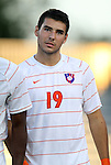 14 September 2012: Clemson's Kyle Murphy. The Duke University Blue Devils defeated the Clemson University Tigers 2-0 at Koskinen Stadium in Durham, North Carolina in a 2012 NCAA Division I Men's Soccer game.