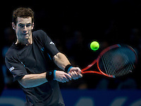 Andy Murray (GBR) against Fernando Verdasco (ESP) in the Group A singles of the Barclays ATP World Tour Finals. Murray beat Verdasco .6-4 6-7 7-6..International Tennis - Barclays ATP World Tour Finals - O2 Arena - London - Day 5 - Thurs  26th Nov 2009..© Frey - AMN IMAGES, Level 1 Barry House, 20-22 Worple Road, London, SW19 4DH - +44 20 8947 0100