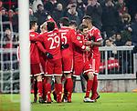 20.02.2018, Allianz Arena, M&uuml;nchen, GER, UEFA CL, FC Bayern M&uuml;nchen (GER) vs Besiktas Istanbul (TR) , im Bild<br />Thomas M&uuml;ller (M&uuml;nchen) freut sich &uuml;ber das Tor zum 3:0<br /><br /><br /> Foto &copy; nordphoto / Bratic