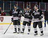 Matt Hatch (Union - 15), Kelly Zajac (Union - 19), Wayne Simpson (Union - 21) - The Union College Dutchmen defeated the Harvard University Crimson 2-0 on Friday, January 13, 2012, at Fenway Park in Boston, Massachusetts.