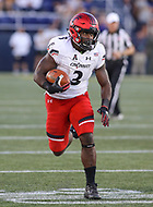 Annapolis, MD - September 23, 2017: Cincinnati Bearcats running back Michael Warren II (3) runs the ball during the game between Cincinnati and Navy at  Navy-Marine Corps Memorial Stadium in Annapolis, MD.   (Photo by Elliott Brown/Media Images International)