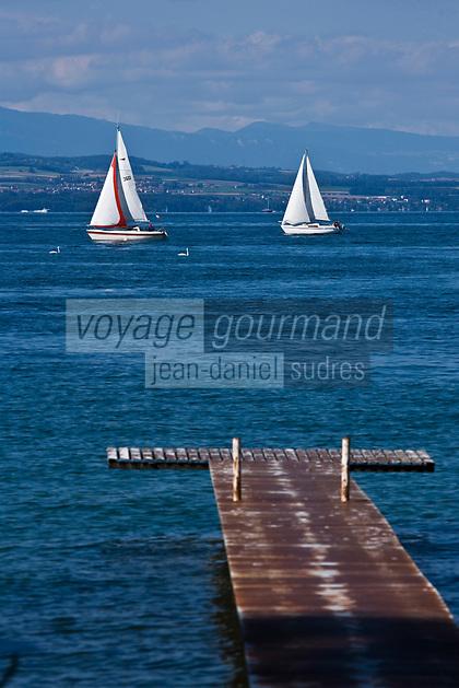 Europe/France/Rhône-Alpes/74/Haute Savoie/ Sciez-sur-Léman: Voilier sur le Lac Léman