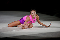 September 13, 2009; Mie, Japan;  Evgeniya Kanaeva of Russia performs gala exhibition at 2009 World Championships Mie. Evgeniya became world champion at Mie and was the 2008 gold individual medalist in rhythmic gymnastics at the Beijing Olympics. Photo by Tom Theobald. .