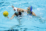 INDIANAPOLIS, IN - MAY 14: Jamie Neushul (8) of Stanford University in action against Kodi Hill (3) of UCLA during the Division I Women's Water Polo Championship held at the IU Natatorium-IUPUI Campus on May 14, 2017 in Indianapolis, Indiana. (Photo by Joe Robbins/NCAA Photos/NCAA Photos via Getty Images)