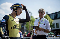 Dylan Groenewegen (NED/Lotto NL - Jumbo) ready to start his TT. <br /> <br /> Binckbank Tour 2018 (UCI World Tour)<br /> Stage 2: ITT Venray (NL) 12.7km