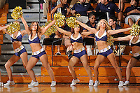 28 January 2012:  FIU's Golden Dazzlers entertain the crowd during a break in the action in the second half as the Western Kentucky University Hilltoppers defeated the FIU Golden Panthers, 61-51, at the U.S. Century Bank Arena in Miami, Florida.