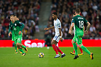England's Marcus Rashford in action <br /> <br /> Photographer Craig Mercer/CameraSport<br /> <br /> FIFA World Cup Qualifying - European Region - Group F - England v Solvenia - Thursday 5th October 2017 - Wembley Stadium - London<br /> <br /> World Copyright &copy; 2017 CameraSport. All rights reserved. 43 Linden Ave. Countesthorpe. Leicester. England. LE8 5PG - Tel: +44 (0) 116 277 4147 - admin@camerasport.com - www.camerasport.com