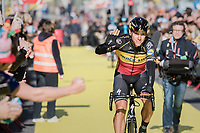 Philippe Gilbert (BEL/Quick Step floors) greeting the fans on his way to the (new) race start in Antwerpen<br /> <br /> 101th Ronde Van Vlaanderen 2017 (1.UWT)<br /> 1day race: Antwerp › Oudenaarde - BEL (260km)