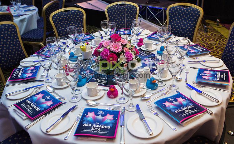 Picture by Alex Whitehead/SWpix.com - 18/10/2014 - Swimming - The ASA Swimtastic and Aquaforce Awards 2014 - Hilton Metropole Hotel, Birmingham, England -