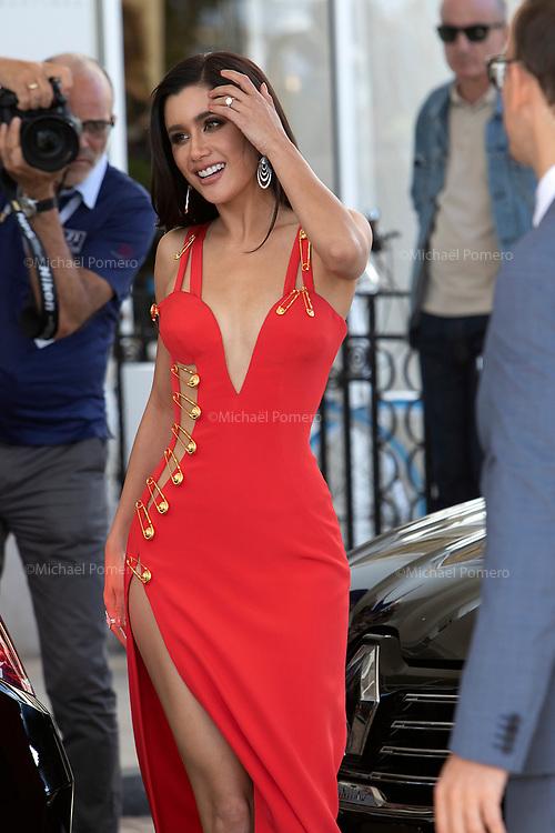 16 mai 2019 Hotel Martinez <br /> <br /> Praya Lundberg avant de monter les marches du festival du film de Cannes.<br /> Praya Lundberg before climbing the steps of the Cannes Film Festival.