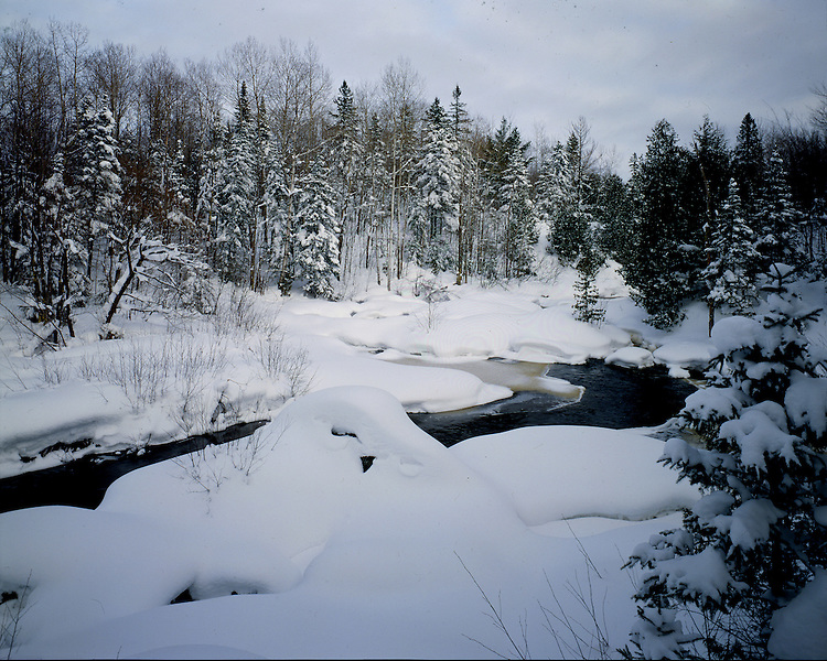Upson River, Iron County, Wisconsin, January, 1994