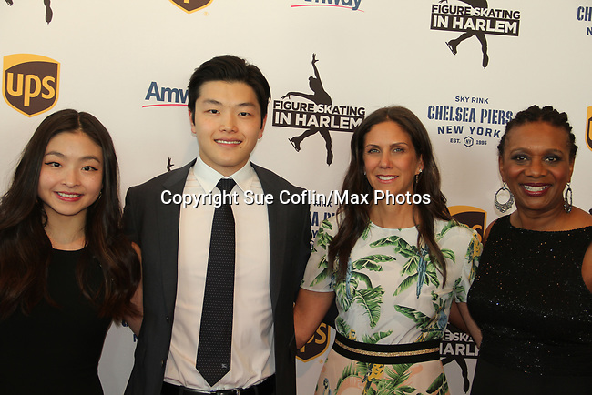 Maia & Alex Shibutani - Ellen Lowey - Candace Matthews at Figure Skating in Harlem's Champions in Life (in its 21st year) Benefit Gala recognizing the medal-winning 2018 US Olympic Figure Skating Team on May 1, 2018 at Pier Sixty at Chelsea Piers, New York City, New York. (Photo by Sue Coflin/Max Photo)