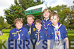 First Kerry Scout Group at Feile na mBlath in Tralee Town Park on Saturday were from left: Sean Cahill, Shane Fitzgerald, Eoin Cahill, Jack McGaley and Daniel Murphy