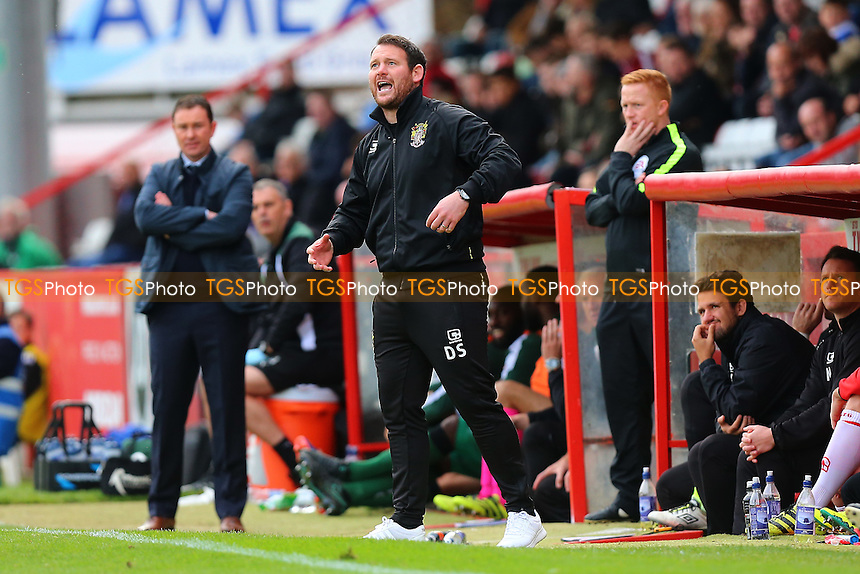 Stevenage manager Darren Sarll during Stevenage vs Plymouth Argyle, Sky Bet EFL League 2 Football at the Lamex Stadium on 8th October 2016