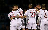Bolton Wanderers' David Wheater celebrates scoring his sides first goal <br /> <br /> Photographer Rob Newell/CameraSport<br /> <br /> The EFL Sky Bet League One - Gillingham v Bolton Wanderers - Tuesday 14th March 2017 - MEMS Priestfield Stadium - Gillingham<br /> <br /> World Copyright &copy; 2017 CameraSport. All rights reserved. 43 Linden Ave. Countesthorpe. Leicester. England. LE8 5PG - Tel: +44 (0) 116 277 4147 - admin@camerasport.com - www.camerasport.com