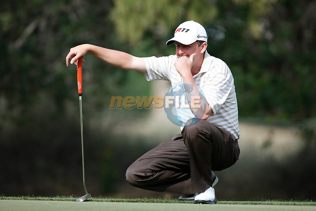 LAWRIE Peter (IRL) in action during the third round of the Omega Dubai Desert Classic played at the Majilis Course, Emirates Golf Club, Dubai, UAE on 12th February 2011..Picture: Phil Inglis / www.golffile.ie.