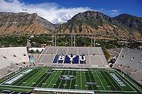 Sept. 19, 2009; Provo, UT, USA; General view of LaVell Edwards Stadium prior to the game between the BYU Cougars against the Florida State Seminoles.. Florida State defeated BYU 54-28. Mandatory Credit: Mark J. Rebilas-